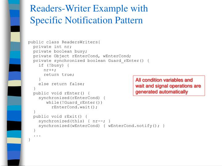 Readers-Writer Example with