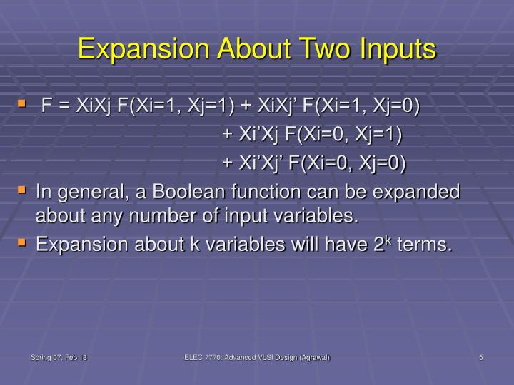 Expansion About Two Inputs