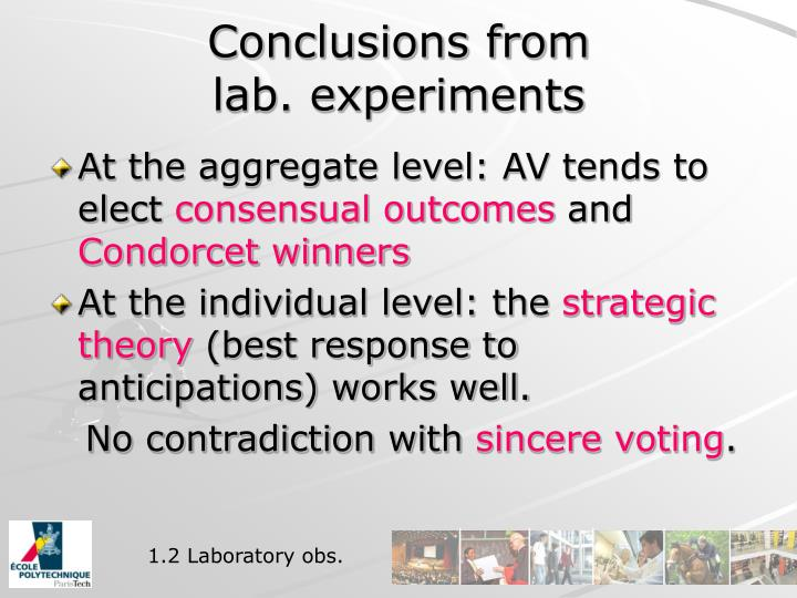 Conclusions from