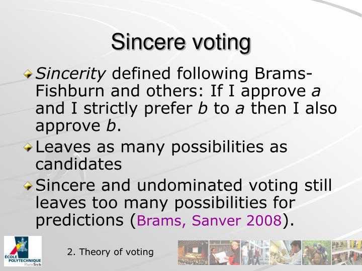 Sincere voting