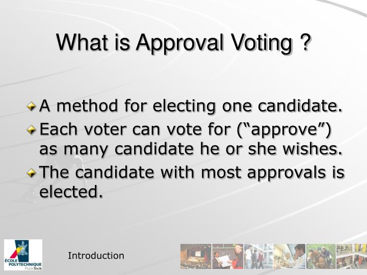 What is approval voting