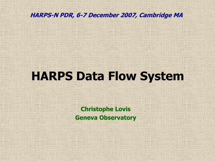 harps data flow system n.