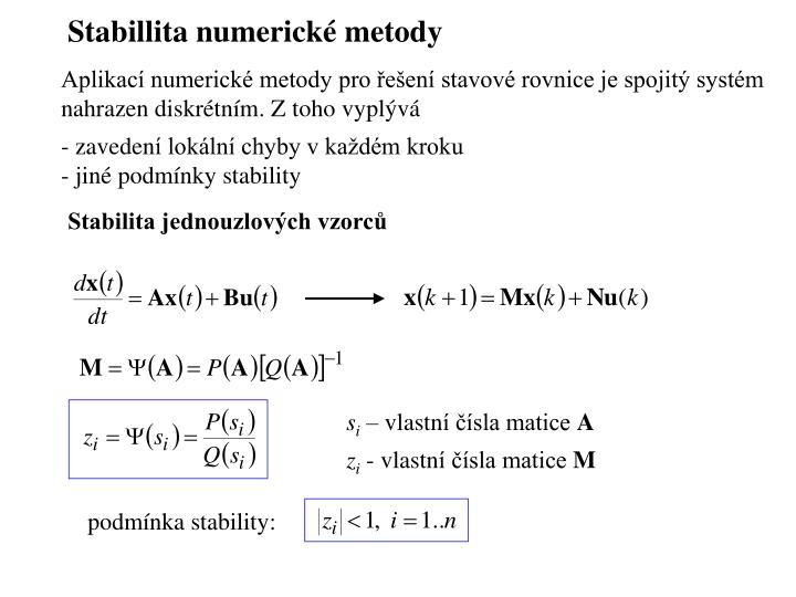 Stabillita numerick