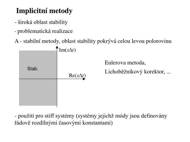 Implicitní metody