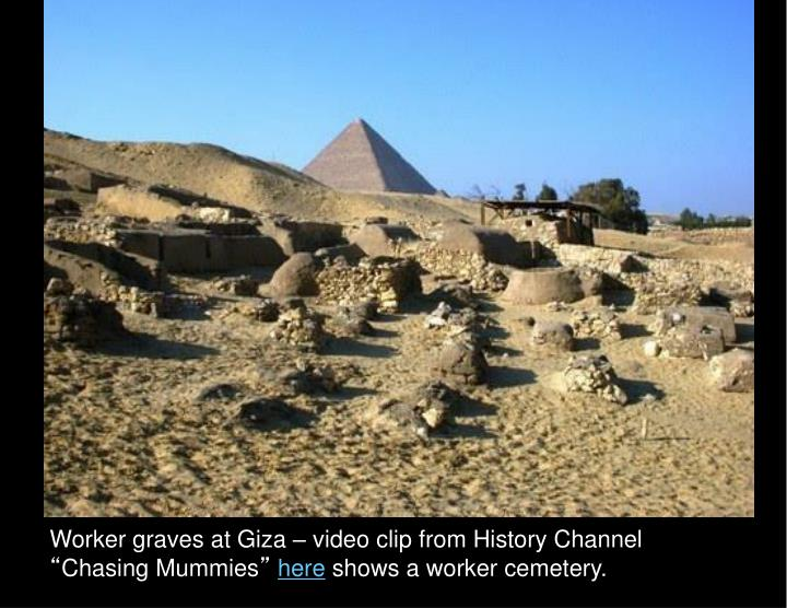 Worker graves at Giza – video clip from History Channel