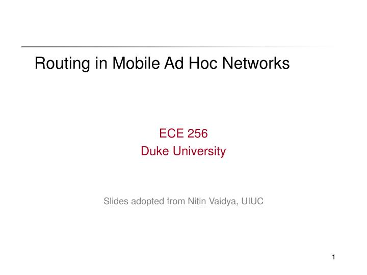routing in mobile ad hoc networks n.