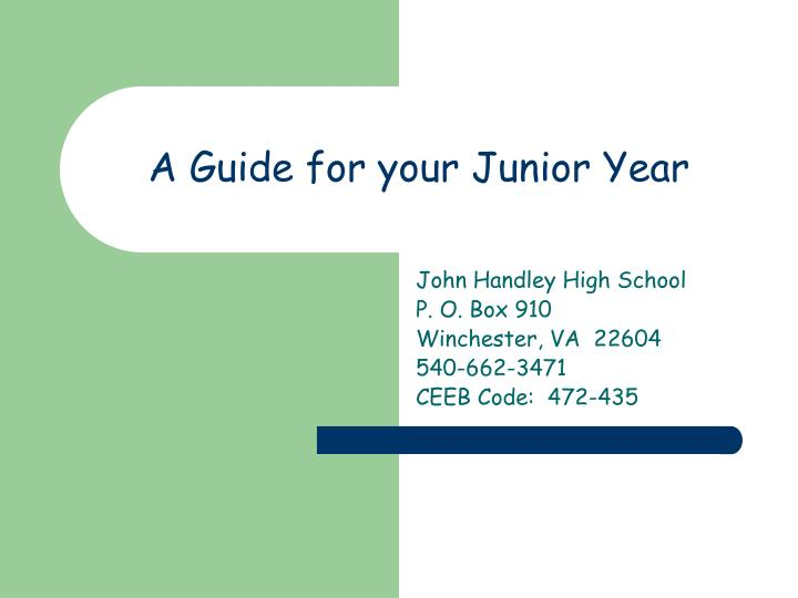 a guide for your junior year n.