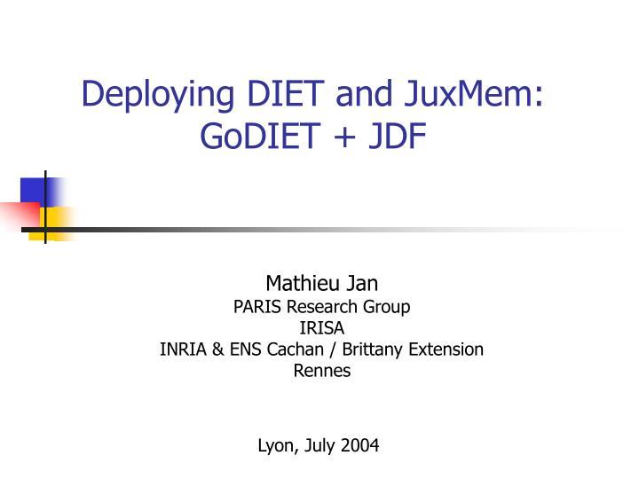 deploying diet and juxmem godiet jdf n.