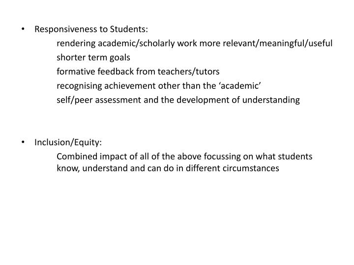 Responsiveness to Students: