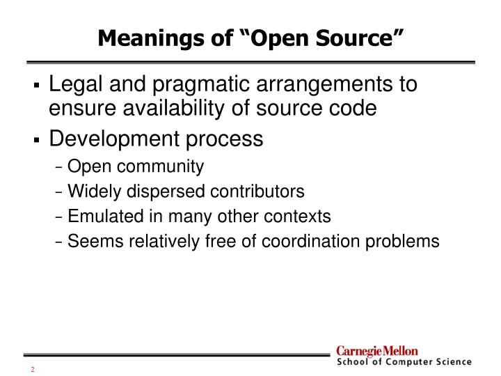 Meanings of open source