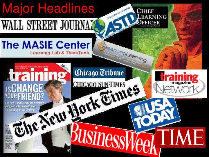 Major headlines