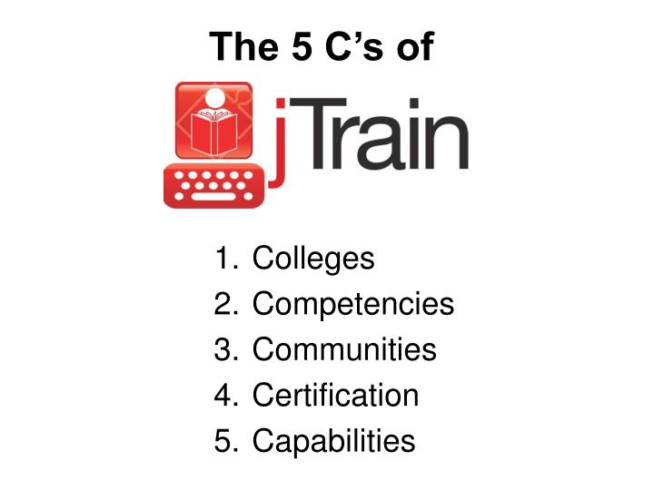 The 5 C's of