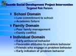 seattle social development project intervention targeted risk factors
