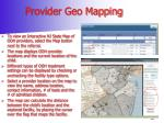 provider geo mapping