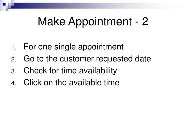 Make Appointment - 2