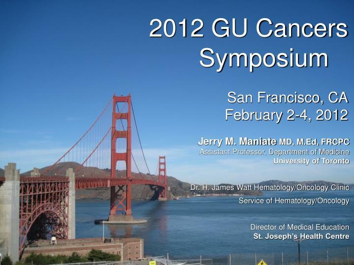 2012 gu cancers symposium