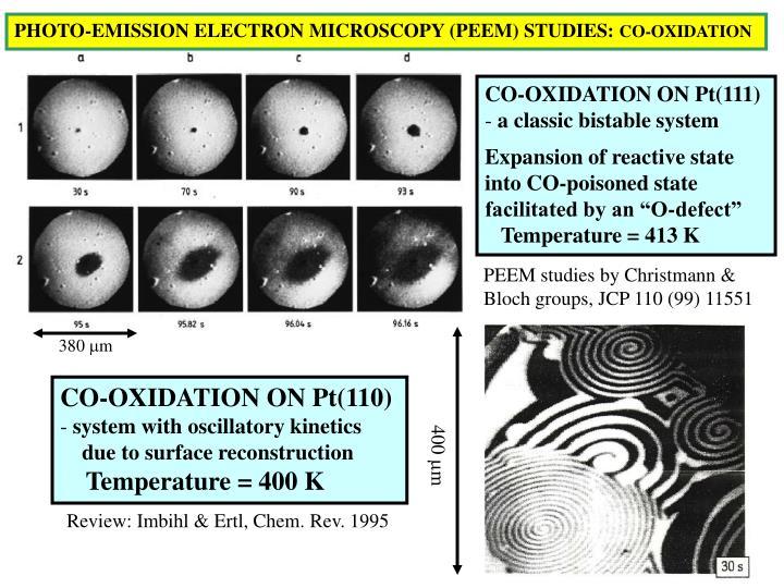 PHOTO-EMISSION ELECTRON MICROSCOPY (PEEM) STUDIES: