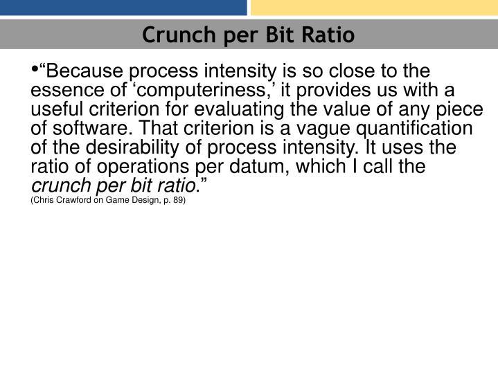 Crunch per Bit Ratio