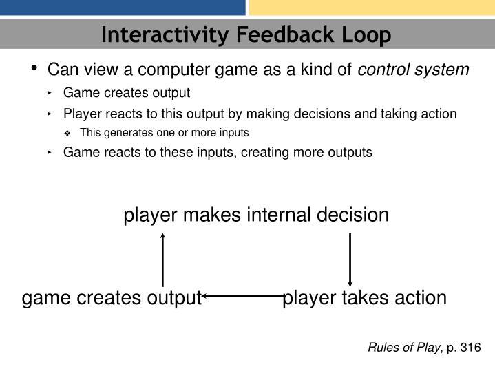 Interactivity Feedback Loop