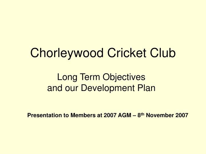chorleywood cricket club n.