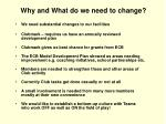 why and what do we need to change