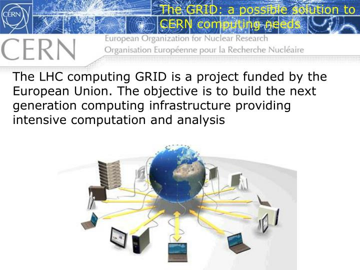 The GRID: a possible solution to CERN computing needs