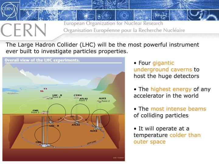The Large Hadron Collider (LHC) will be the most powerful instrument ever built to investigate particles properties.