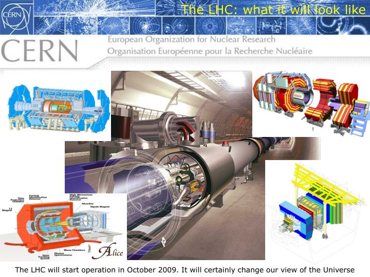 The LHC: what it will look like
