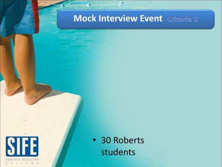 Mock Interview Event
