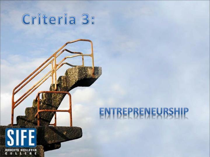 Criteria 3: