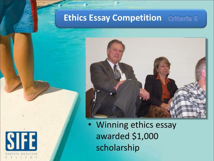 Ethics Essay Competition