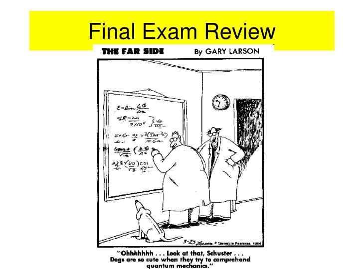 final exam review n.