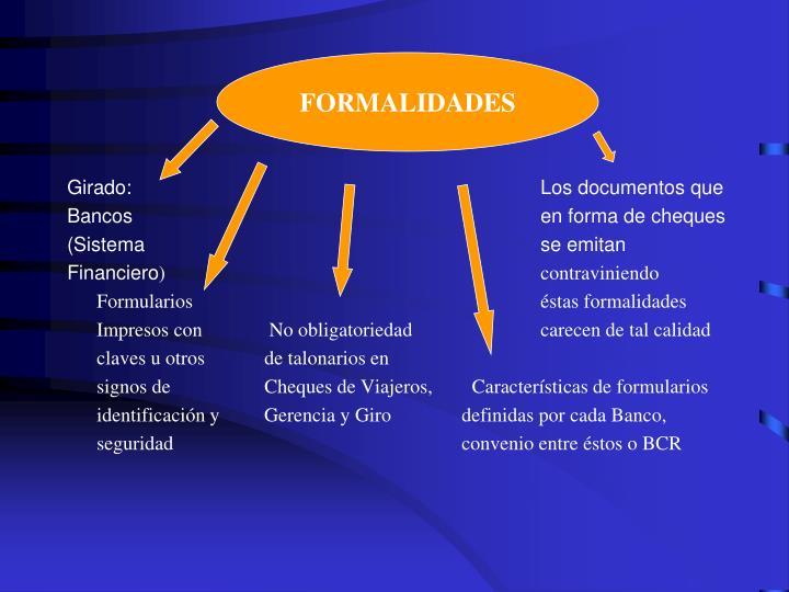Formalidades