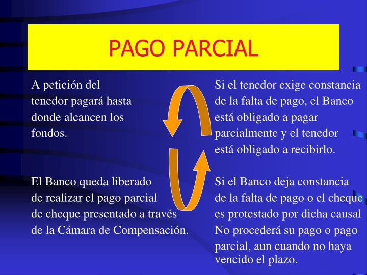 PAGO PARCIAL