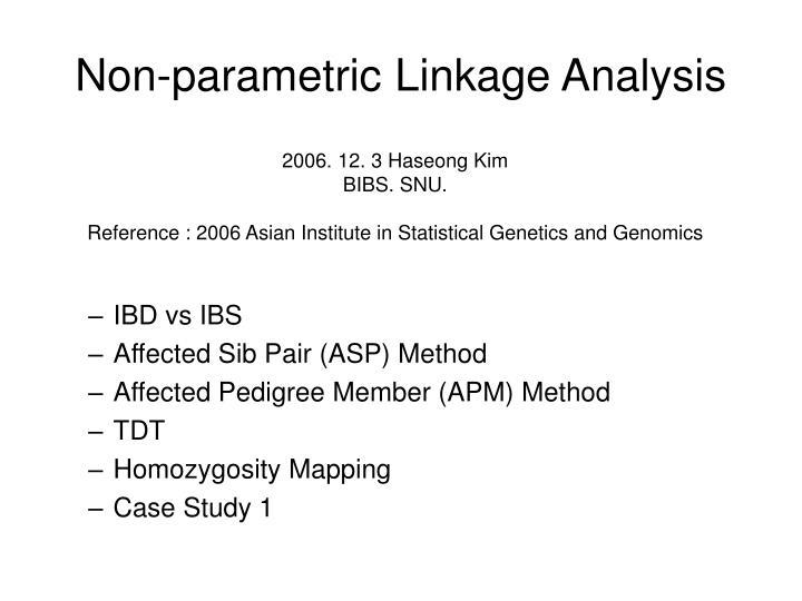 non parametric linkage analysis n.