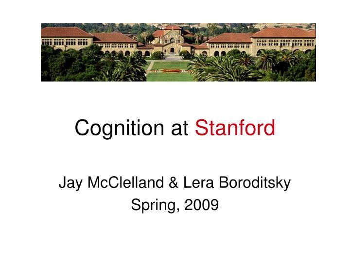cognition at stanford n.