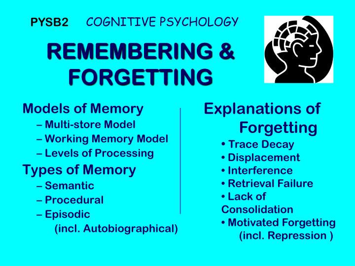 2. Forgetting.