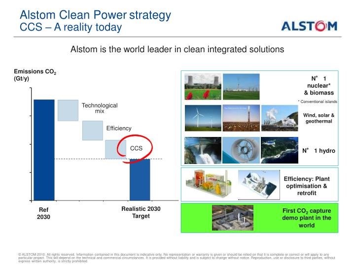 Alstom clean power strategy ccs a reality today