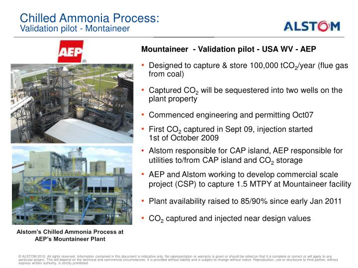 Chilled Ammonia Process: