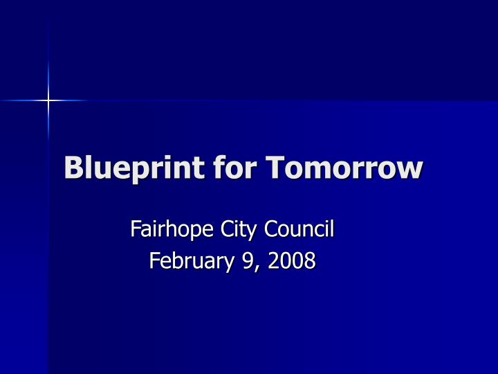 blueprint for tomorrow n.