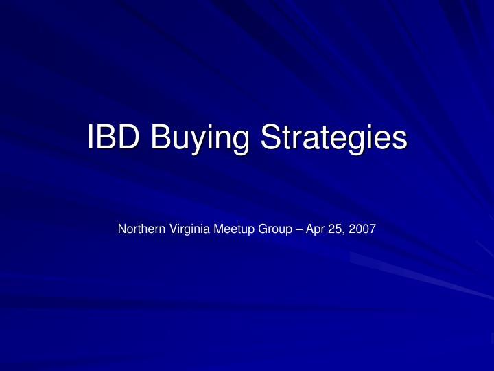 ibd buying strategies n.