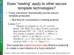 does nesting apply to other secure template technologies2