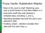 fuzzy vaults substitution attacks
