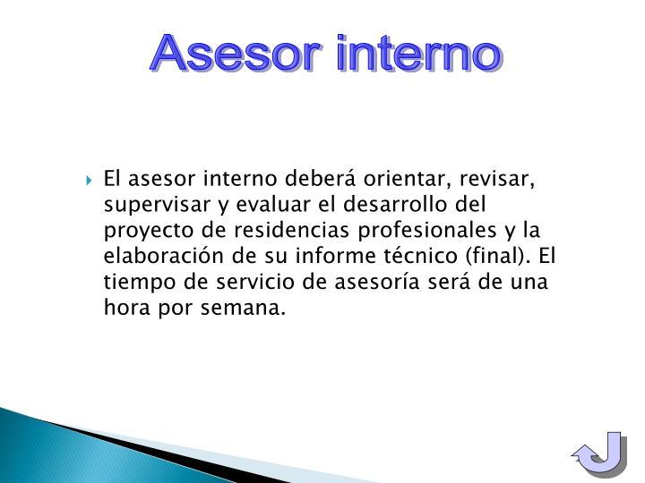 Asesor interno