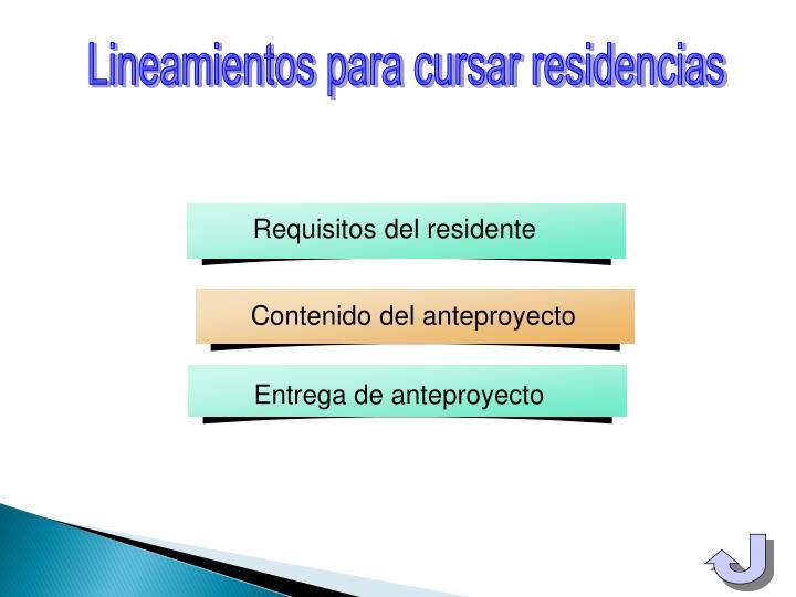 Requisitos del residente