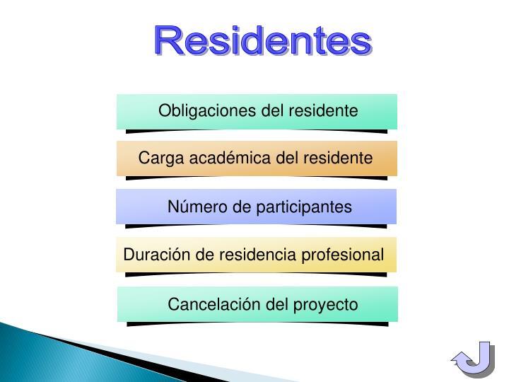 Obligaciones del residente