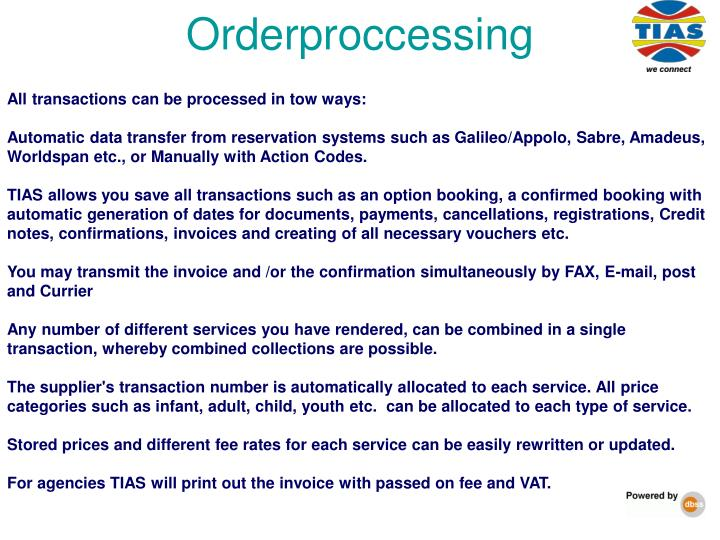 Orderproccessing