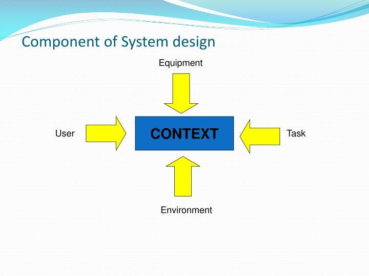 Component of System design