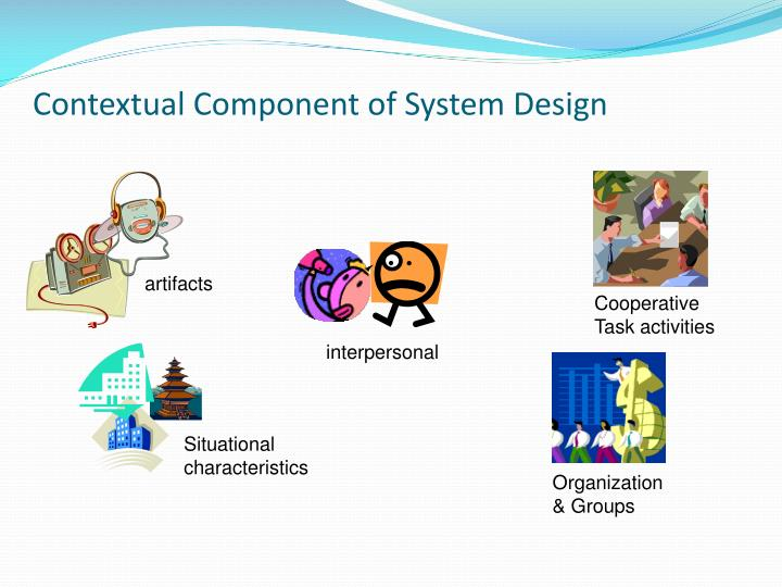 Contextual Component of System Design