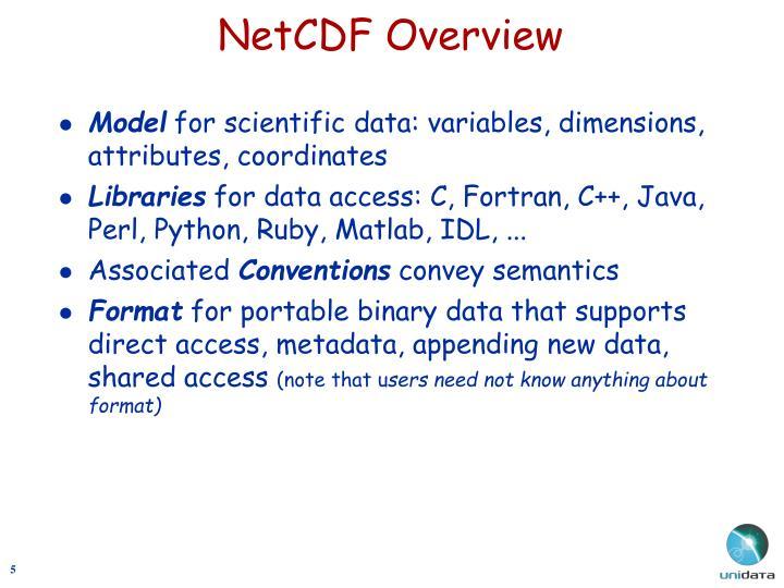 NetCDF Overview
